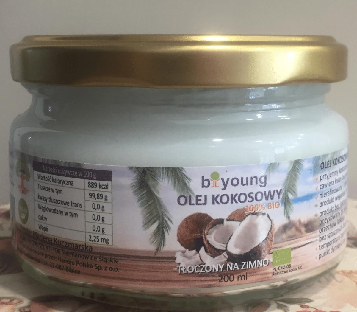 Olej kokosowy 200ml biyoung pozdrowie24.pl