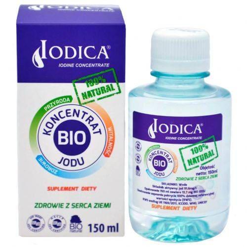 Naturalny koncentrat jodu w płynie 150ml Iodica, jod naturalny jodek